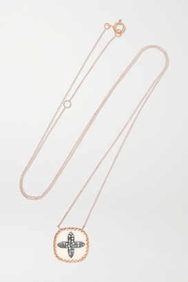 Pascale Monvoisin Bowie 9-karat Rose Gold, Sterling Silver, Resin And Diamond Necklace - one size