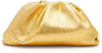 Bottega Veneta The Pouch Large Metallic-leather Clutch Bag - Womens - Gold
