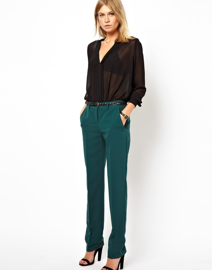 Asos Trousers in Straight Leg