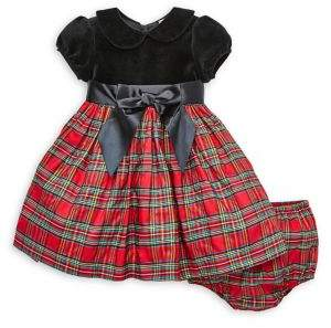 Little Me Baby Girl's Plaid Special Occasion Dress