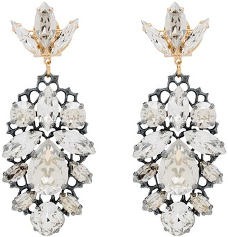 Anton Heunis gold-plated Swarovski crystal chandelier earrings