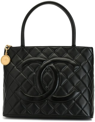 Chanel Pre Owned 1998 quilted CC tote bag