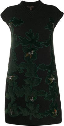 Louis Vuitton pre-owned hair-textured patches knitted dress