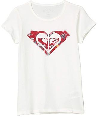 Roxy Kids Endless Music Print C Tee (Little Kids/Big Kids) (Snow White) Girl's Clothing