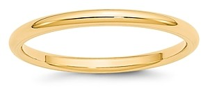 Bloomingdale's Men's 2mm Comfort Fit Band Ring in 14K Yellow Gold - 100% Exclusive