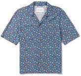 Our Legacy Camp-collar Floral-print Voile Shirt - Blue