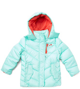Mint & Coral Quilted Puffer Jacket - Girls
