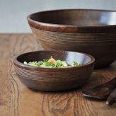 Sur La Table Mango Wood Ridged Individual Bowl