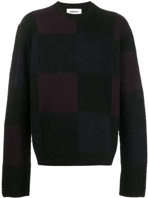 Ambush Knitted Patchwork Jumper
