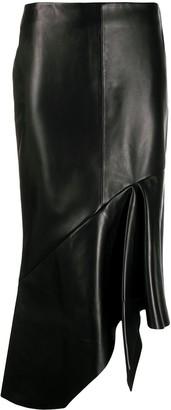 Tom Ford Asymmetric Leather Skirt