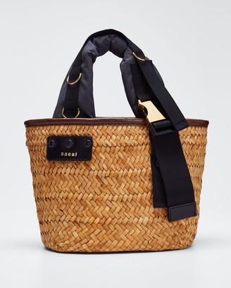 Sacai Hybrid Marche Medium Woven Bucket Bag