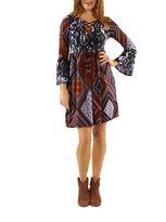 24/7 Comfort Apparel Total Knockout Peasant Dress