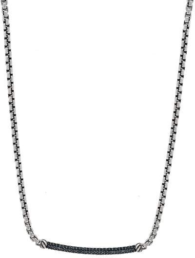 David Yurman Petite Pave Metro 0.42ct. Black Diamonds Chain Necklace