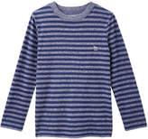 Joe Fresh Kid Boys' Stripe Long Sleeve Tee, Dark Blue Mix (Size XL)