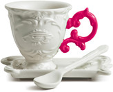 Seletti I-Wares Porcelain Coffee Set - Fuchsia
