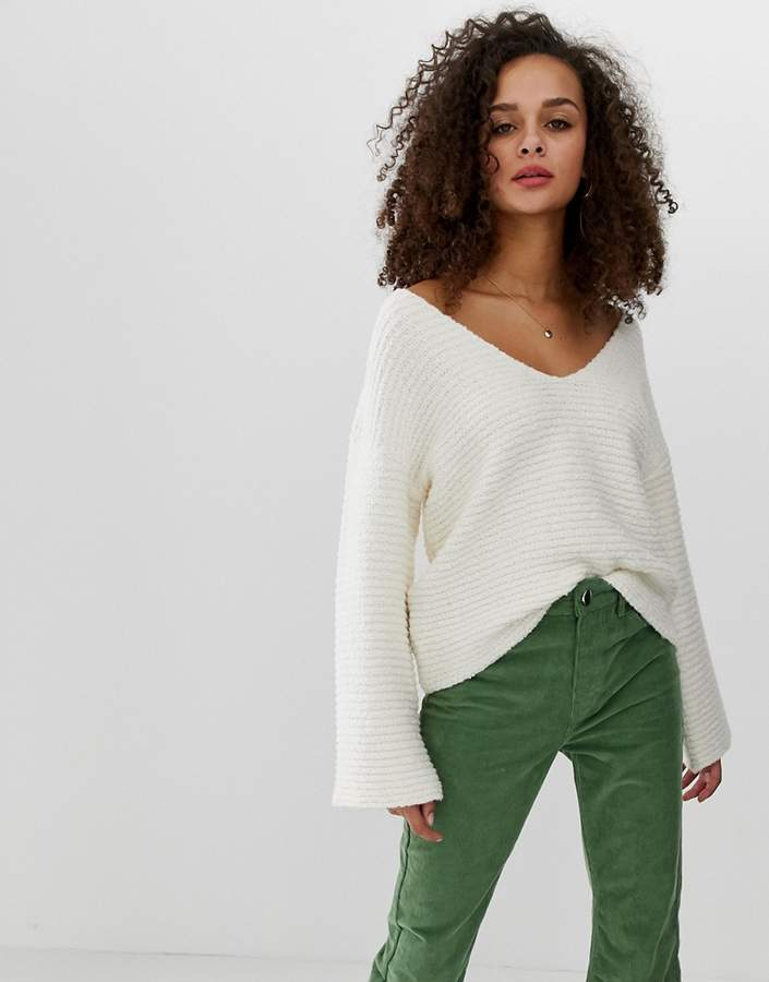 Design DESIGN slouchy v neck sweater