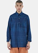 Story Mfg. Men's Long House Shirt In Blue