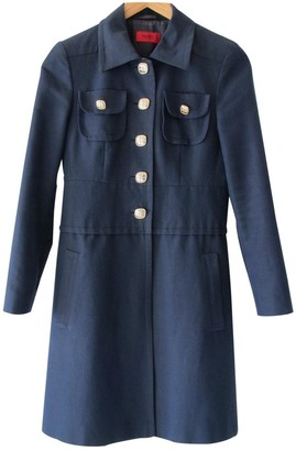 HUGO BOSS Navy Cotton Coat for Women