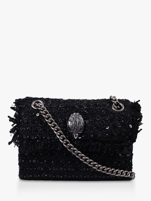 Kurt Geiger Kensington Tweed Mini Cross Body Bag, Black