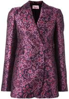 Lanvin jacquard floral detail blazer - women - Silk/Cotton/Acrylic/Wool - 40
