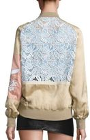 No.21 NO. 21 Lace-Inset Bomber Jacket
