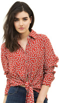Faithfull The Brand Hosk Shirt in Pin Up Bow Red