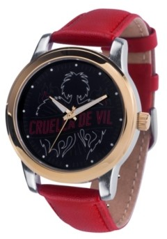 EWatchFactory Disney Villains Cruella De Vil Women's Two Tone Alloy Watch 38mm