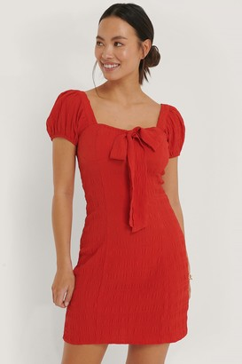 NA-KD Structured Bow Dress