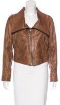 Yigal Azrouel Funnel Collar Leather Jacket