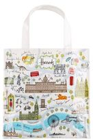 Harrods Small London Map Shopper Bag