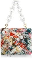Oscar de la Renta Mini Tro Plaid Tweed Top Handle Bag