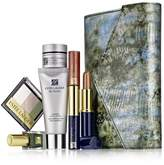 Estee Lauder 2013 7 Pieces Re-Nutriv Makeup Skincare Gift Set with Metailic Faux-Snakeskin Clutch Cosmetic Bag by