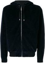 Versace logo hooded sweatshirt - men - Cotton/Polyamide/Spandex/Elastane - M