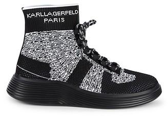 Karl Lagerfeld Paris Logo High-Top Sneakers