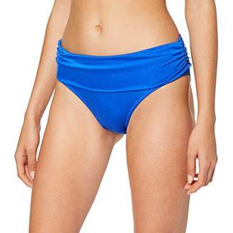 Pour Moi? Women's Azure Fold Over Ruched Brief Bikini Bottoms,(Size:)