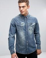 Wrangler Distressed Denim Shirt