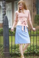 Shabby Apple Perfect Pastel Pencil Skirt Blue