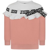 Fendi FendiGirls Light Pink Threaded Ribbon Sweater