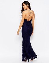 Jessica Wright Lilian Backless Lace Maxi Dress
