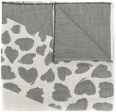 Twin-Set frayed edge heart print scarf - women - Acrylic/Modal/Polyester/Viscose - One Size