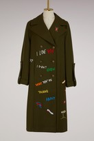 Mira Mikati Virgin wool Adventure coat
