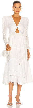 HEMANT AND NANDITA Ada Maxi Dress in White | FWRD