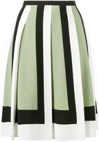 Valentino geometric panelled skirt