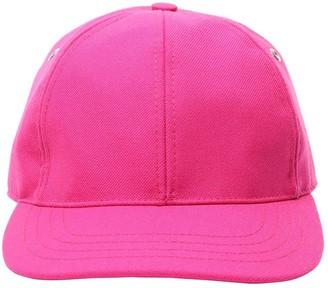Ami Alexandre Mattiussi Logo Patch Wool Gabardine Baseball Hat