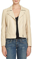 1 STATE Faux-Leather Front Zip Moto Jacket