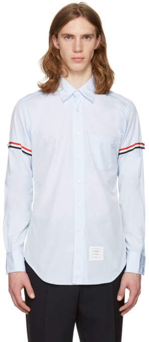 Thom Browne Blue Grosgrain Classic Shirt