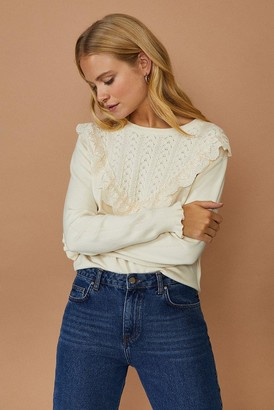 Coast Pointelle And Lace Mix Jumper