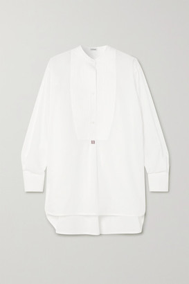 Loewe Oversized Embroidered Cotton-poplin Tunic - White