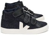 Veja Flannel Velcro Esplar Mid High-Top Trainers