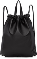 Robert Clergerie Black Leather Sporty Backpack